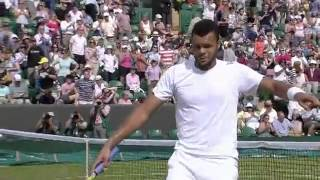 Tsonga dances his way to epic win - Wimbledon 2014