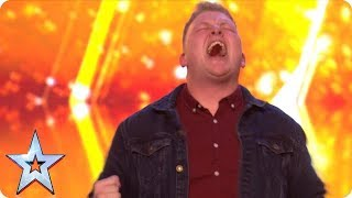 Gruffydd wows with OUT OF THIS WORLD vocals and bags a GOLDEN BUZZER!   Auditions   BGT 2018