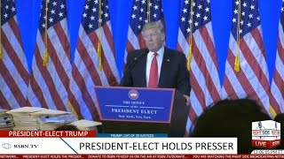 Full Event: President-Elect Donald Trump Holds Press Conference at Trump Tower 1/11/17