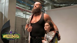 Braun Strowman leads young Nicholas to his first WWE photo shoot: Exclusive, April 8, 2018