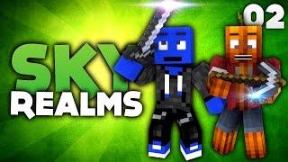 VERDAMMT VIELE NEUE CHALLENGES! - Minecraft Sky Realms #02 | DieBuddiesZocken