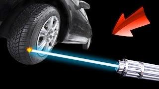 EXPERIMENT - Laser VS Autoreifen 🍎