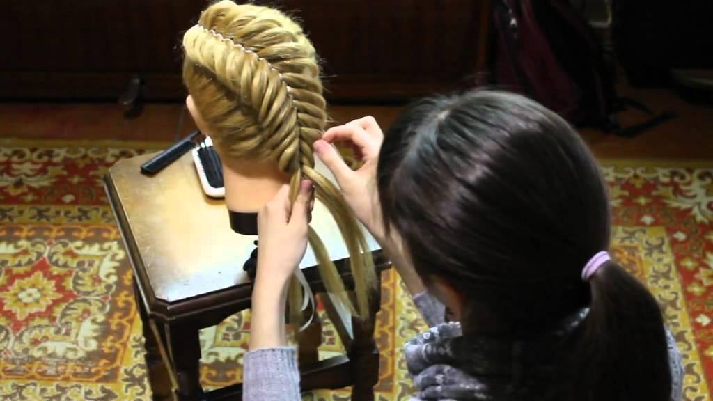 Прически для длинных волос с лентой в волосах