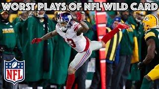 Worst Plays | NFL Wild Card Highlights