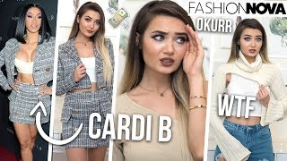 TRYING ON CARDI B X FASHION NOVA CLOTHING... SIS HOW MUCH!?