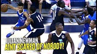 Julian Newman vs TRASH TALKING GROWN MEN GETS HEATED!! Puts On a SHOW w/ Michael Beasley!