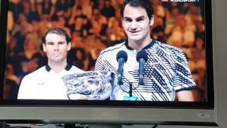 Roger Federer winning speech Australian Open 2017 vs Nadal