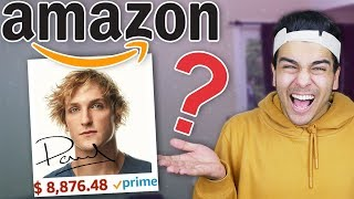 Buying 100% RANDOM Amazon Items! YOUTUBER EDITION! (Logan Paul, David Dobrik, Wolfieraps & MORE!)