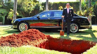 BILLIONAIRE BURIES HIS $1M CAR TO PROVE A POINT