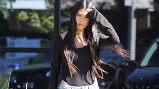 Kourtney Kardashian Visits Kanye After Kris Jenner