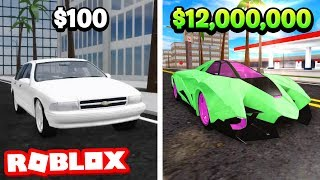 $100 vs $12,000,000 CAR IN ROBLOX