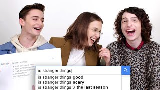 Millie Bobby Brown, Finn Wolfhard & Noah Schnapp Answer the Web