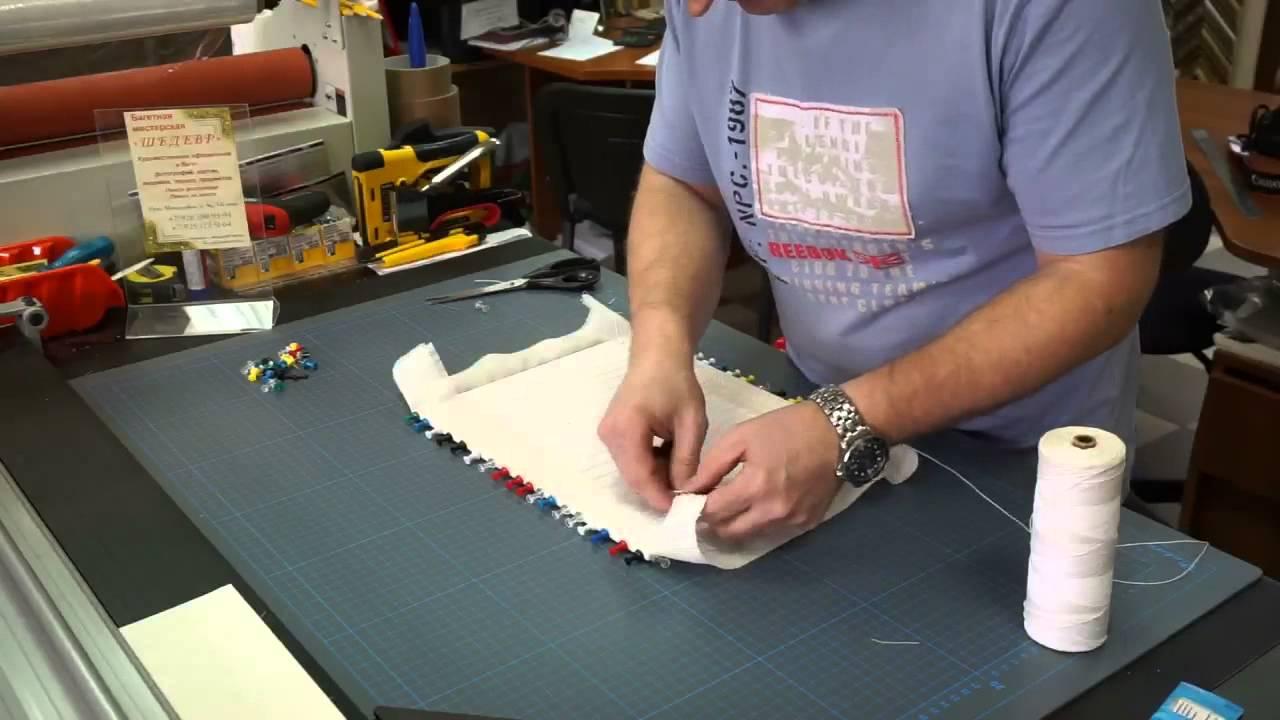 Как правильно натянуть вышивку из бисера 26
