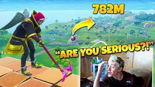 """Ninja Reacts to """"The Best Golf Trickshot of all Time!"""" (Twitch Moments Fortnite Reaction)"""