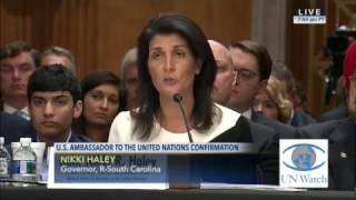 Nikki Haley Senate Confirmation Hearing - Israel Highlights