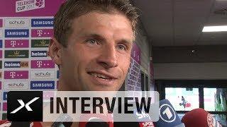 Thomas Müller über James Rodriguez und harten FCB-Konkurrenzkampf | FC Bayern München