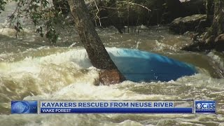 2 kayakers rescued from Neuse River in Wake Forest, officials say