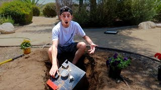 We Found a SECRET SAFE BURIED in our BACKYARD... (What