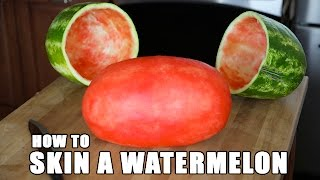 SKIN A WATERMELON party trick