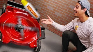 Throwing Things Into A Lawn Mower!