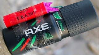 Firecrackers vs Axe Deodorant - Very Dangerous Experiment