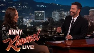 Gal Gadot Asks Jimmy Kimmel About Her Breasts