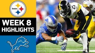 Steelers vs. Lions | NFL Week 8 Game Highlights