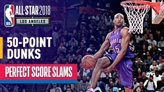 ALL 50-Point Dunks In NBA Slam Dunk Contest History