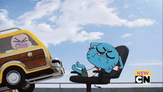 Rescuing on a Day Off (Clip) - The Vegging | Amazing World of Gumball (Season 6)