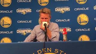 Steve Kerr On Stephen Curry Injury / GS Warriors vs Hawks