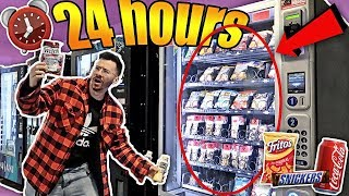 I Only Ate VENDING MACHINE FOODS for 24 hours!! **IMPOSSIBLE CHALLENGE**