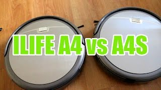 ILIFE A4 vs A4S - Features and Cleaning test