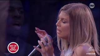 Fergie Performs National Anthem At NBA All-Star Game | The View