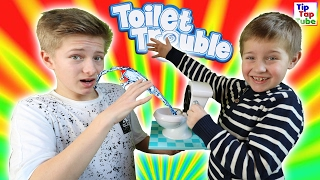 TOILET TROUBLE | Russisch Wasser Roulette Challenge | TipTapTube