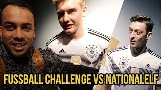 FUSSBALL CHALLENGES VS Nationalmannschaft!! Mesut Özil Julian Brandt & Mehr!!