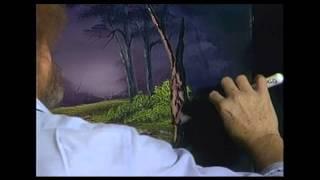 Bob Ross - Malerei Nebligen Wald Oval - Malerei Video