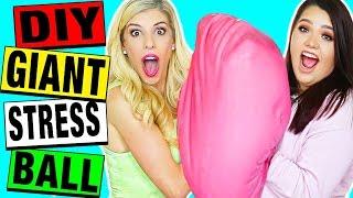 DIY GIANT OOBLECK STRESS BALL (50 lbs!) with Karina Garcia!!