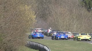angry Race Driver after crash, Nürburgring Nordschleife , VLN Lauf 1 / 2017