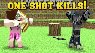 Minecraft: ONE SHOT KILLS YOU!!! (WHO WILL SURVIVE!?) Mini-Game