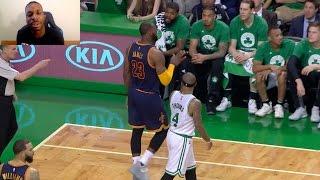 LMAO LEBRON JAMES BLOCKS ISAIAH THOMAS SHOT AND THEN TALKS TRASH AFTER! NBA PLAYOFFS!