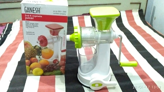 Ganesh fruits & Vegetable | Hand Juicer