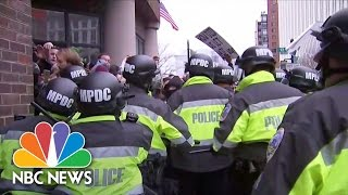 Inauguration Protesters Surrounded By Police in D.C. | NBC News