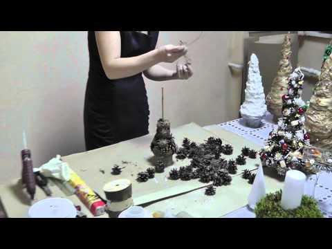 Симпатичные поделки из природного материала- из шишек