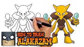 How to Draw Alakazam   Pokemon (Art Tutorial)