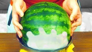 Wie man eine Wassermelone bis Silvester frisch hält
