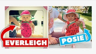 Posie Recreates Her Sister Everleigh's Baby pictures!!!