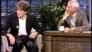 Robin Williams Crazy First Appearance on Johnny Carson