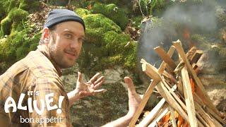 Brad Grills Steak on a Campfire | It