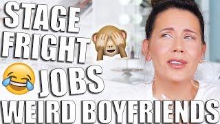EMBARRASSING STORIES GRWM | Weird Boyfriends & First Jobs