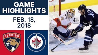 NHL Game Highlights | Panthers vs. Jets - Feb. 18, 2018